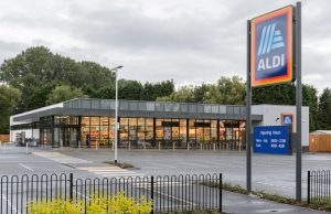cleaning at the aldi store with Heritage Cleaning